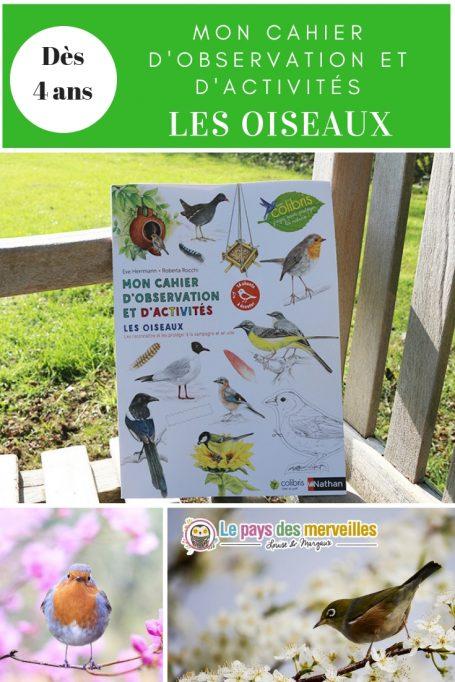 Mon cahier d'observation et d'activités les oiseaux