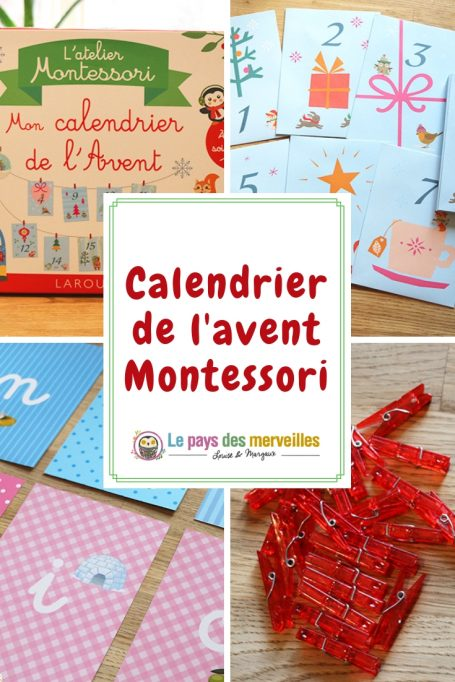 calendrier de l'avent Montessori