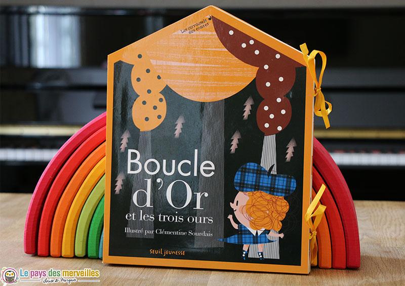 livre objet Boucle d'Or et les trois ours