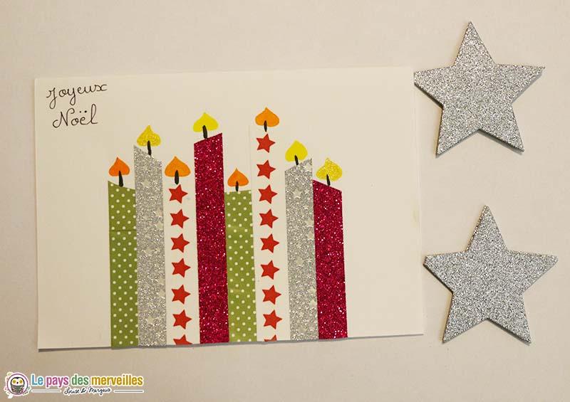 Carte de Noël avec du masking tape