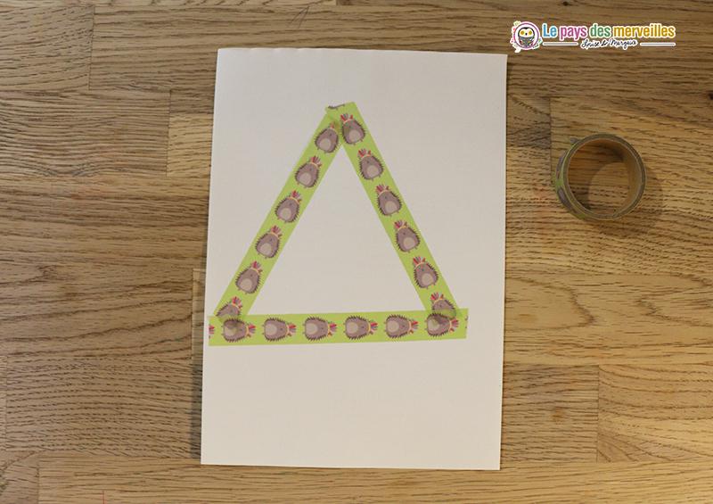 triangle masking tape sapin