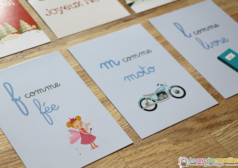 Cartes Montessori alphabet