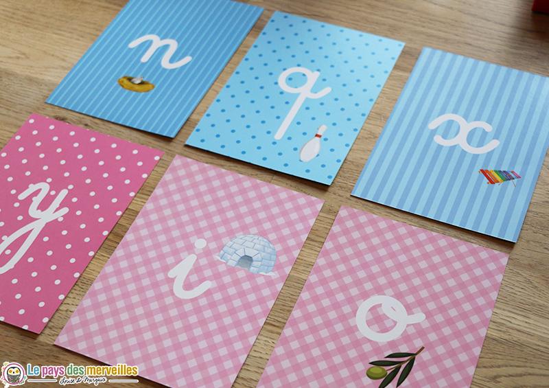 Cartes pour fabriquer un alphabet rugueux