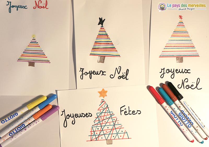 Carte facile sapin de Noël
