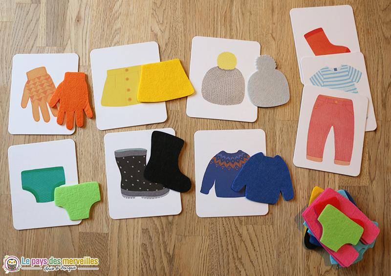 Associations et mise en paire Montessori