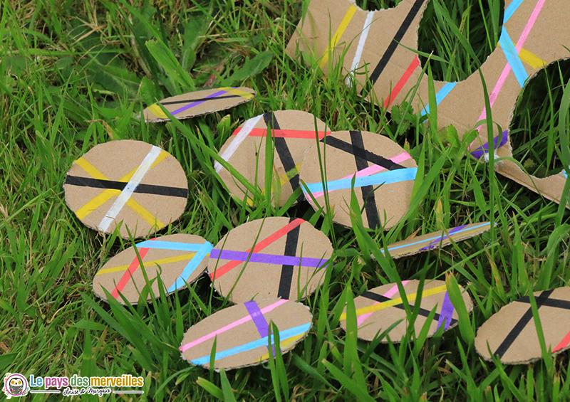 pieces de puzzle rondes en carton