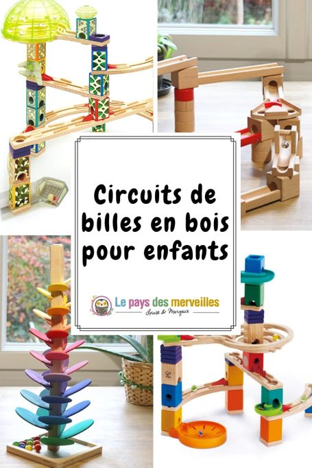 Circuits de billes en bois pour les enfants