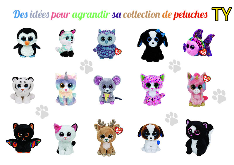 Collection peluches animaux TY