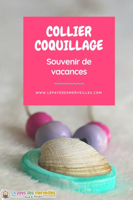 Collier coquillage souvenir de vacances