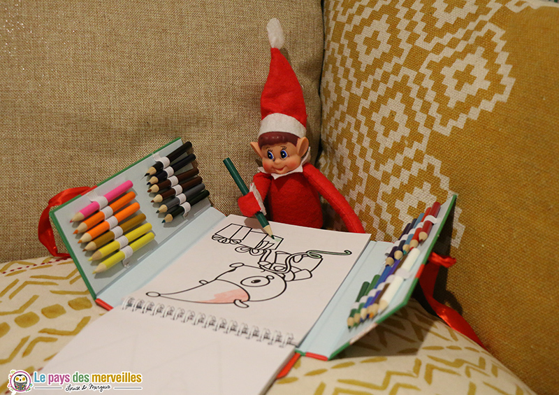 Coloriage lutin de Noël