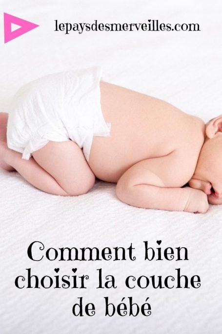 choisir la couche de bébé