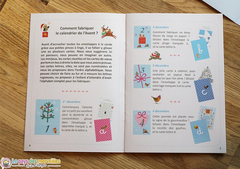 Comment fabriquer le calendrier de l'avent Montessori