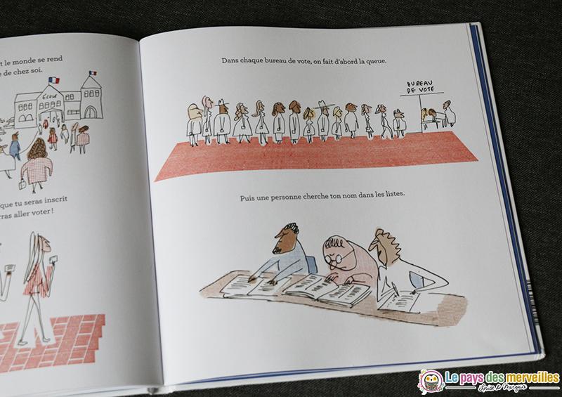 Illustration bureau de vote pour les enfants