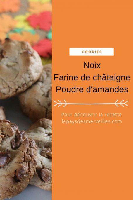 Cookies d'automne : noix, farine de châtaigne, poudre d'amandes