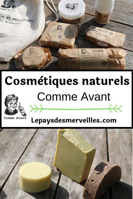 Cosmétiques naturels et artisanaux Comme Avant