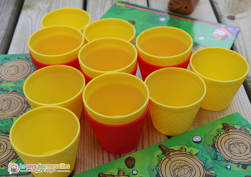 Gobelets du jeu Coco king