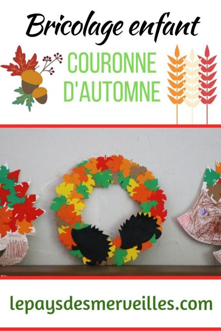 Bricolage enfant couronne automne en papier