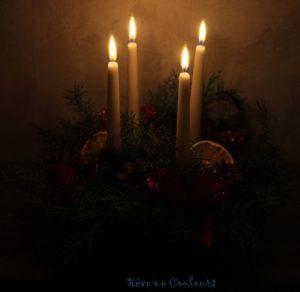Couronne de Noël bougies
