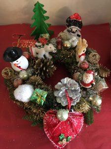 Couronne de Noël faite maison