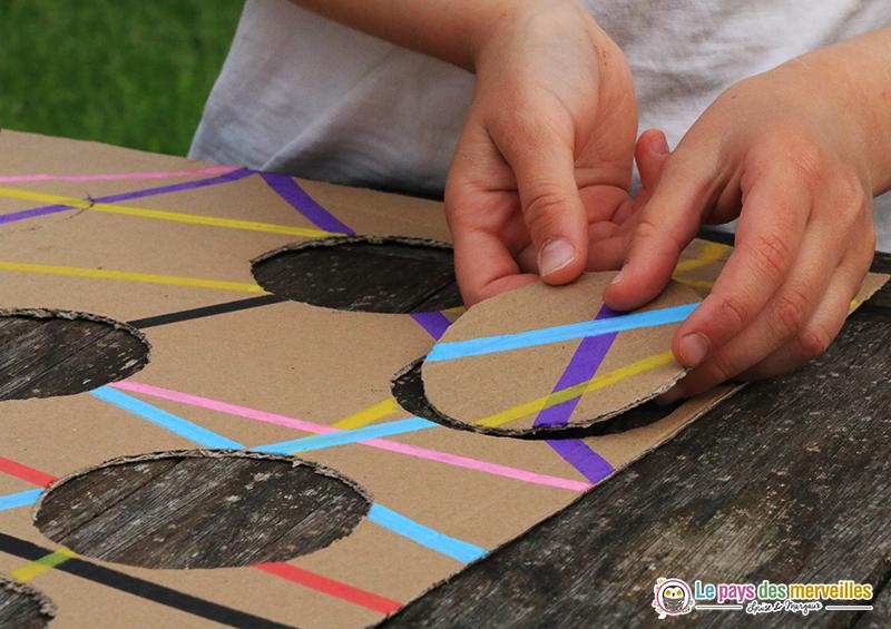 puzzle enfant crée avec du carton