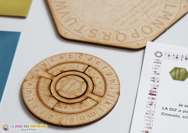 cryptographe en bois