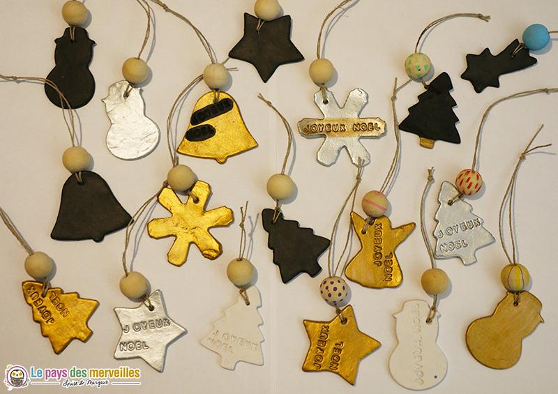 décorations de Noël en pâte autodurcissante
