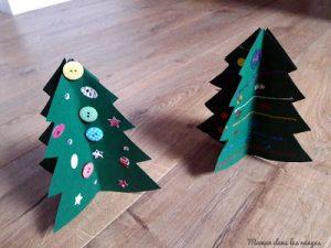 Bricolage sapin de Noël en papier