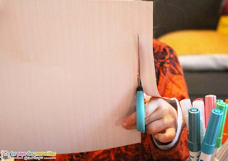 Découpage de papier à motifs