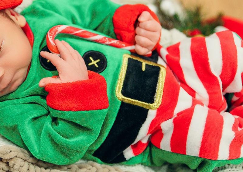 Déguisement pour bébé lutin de Noël
