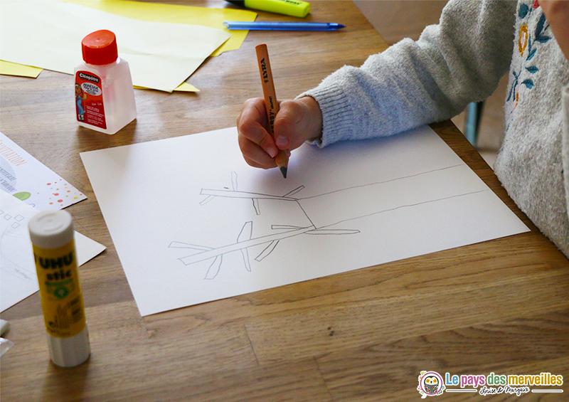 Dessiner un arbre au crayon à papier