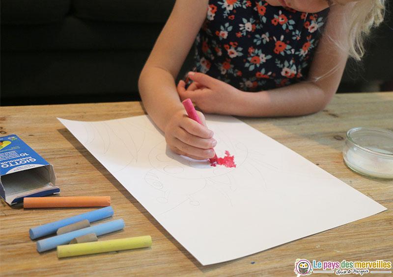 dessiner avec des craies