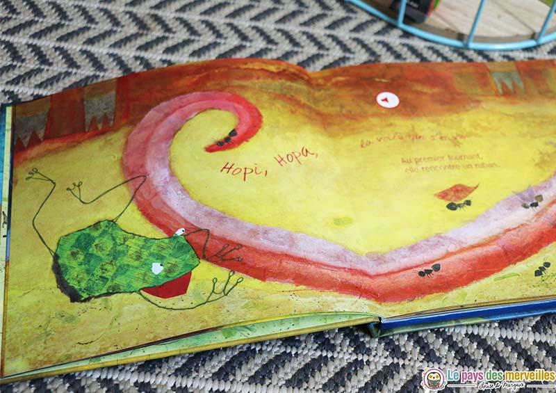 Conte de randonnée pour les enfants avec une grenouille