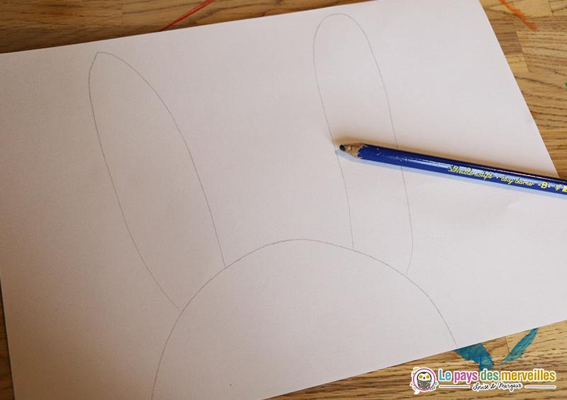Dessin lapin au crayon à papier