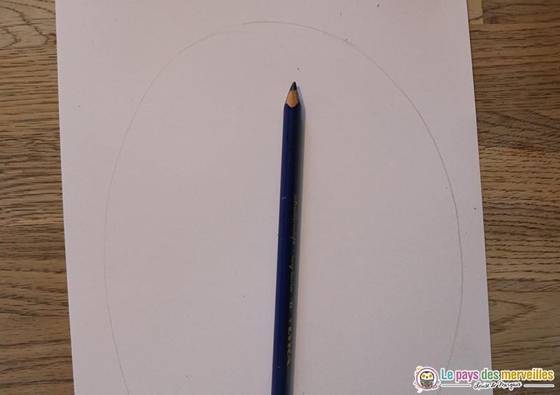 dessin oeuf au crayon à papier