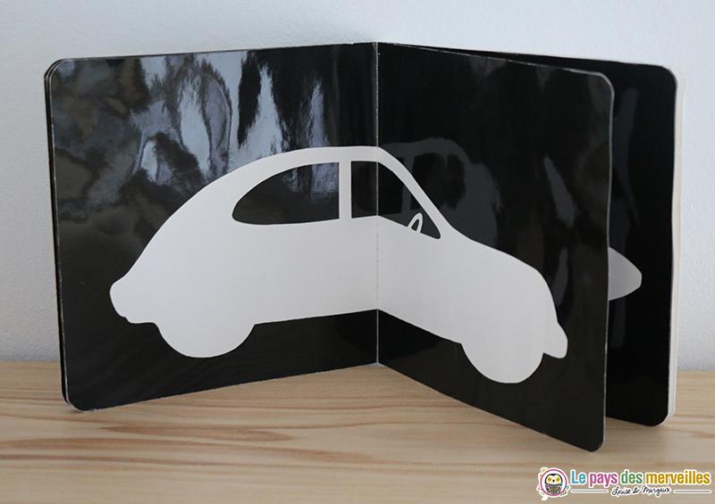 voiture livre contraste