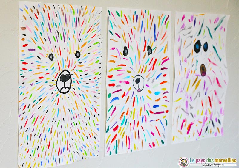Ours coloré graphisme