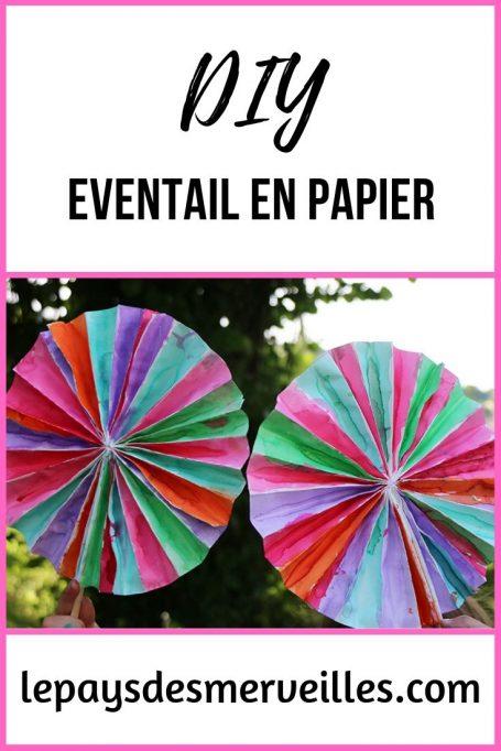 DIY éventail en papier