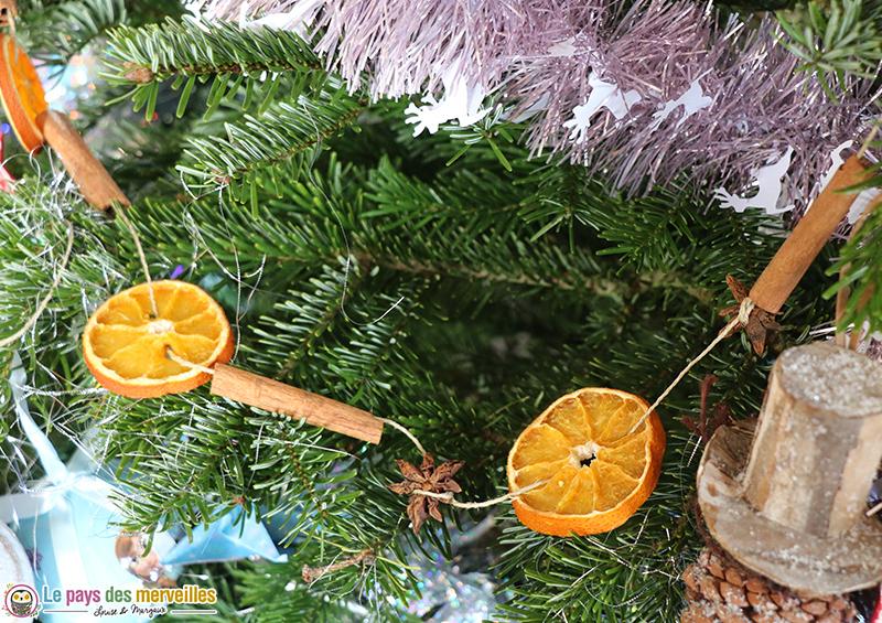 Guirlande de Noël au parfum d'orange