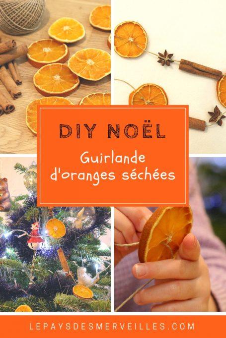 Guirlande d'oranges séchées pour Noël
