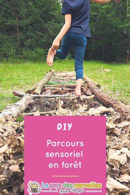DIY parcours sensoriel pieds nus en forêt