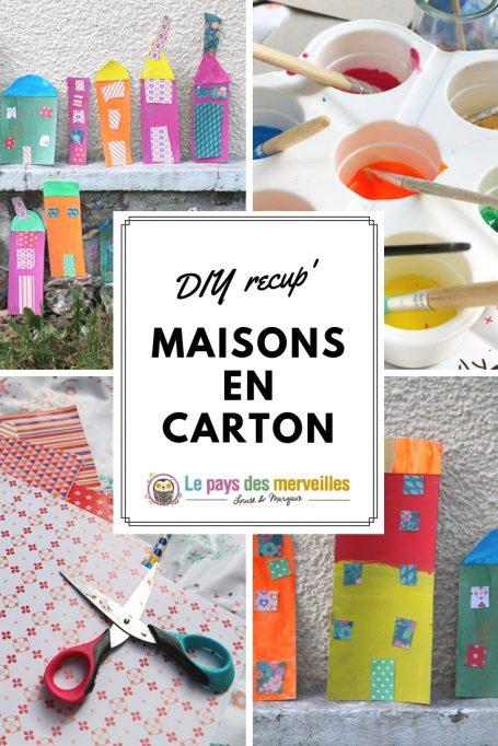 Invitation à créer : les maisons en cartons (DIY recup')