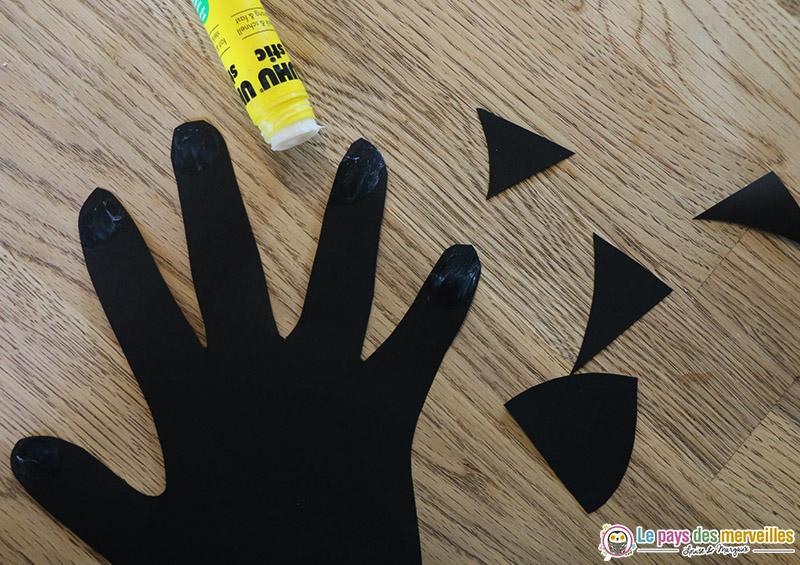 empreinte de main halloween