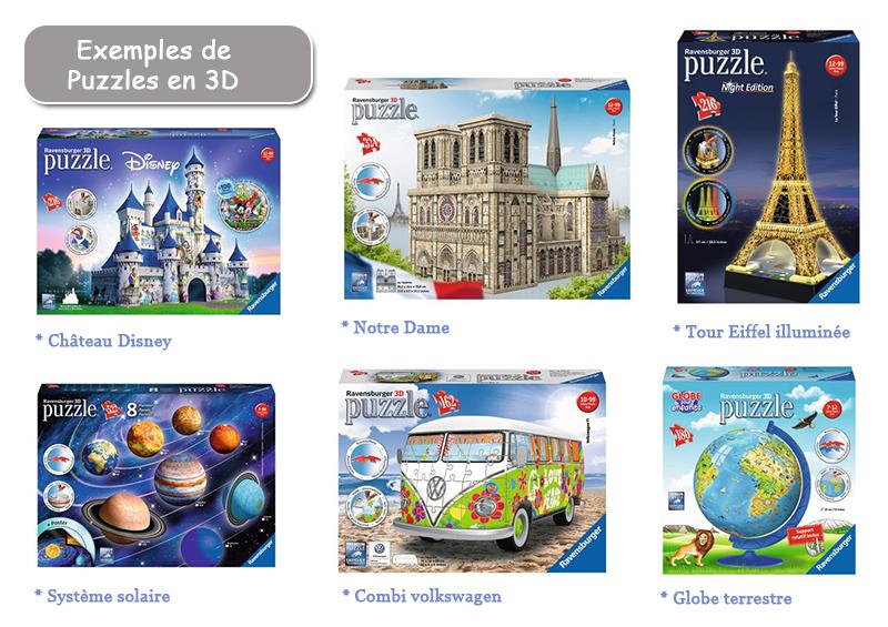 Exemples de puzzles en 3D