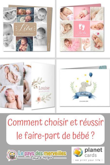 Comment choisir le faire-part de naissance de bébé ?