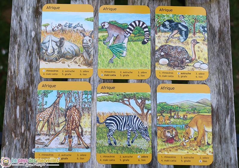 Jeu de 7 familles : famille animaux d'Afrique
