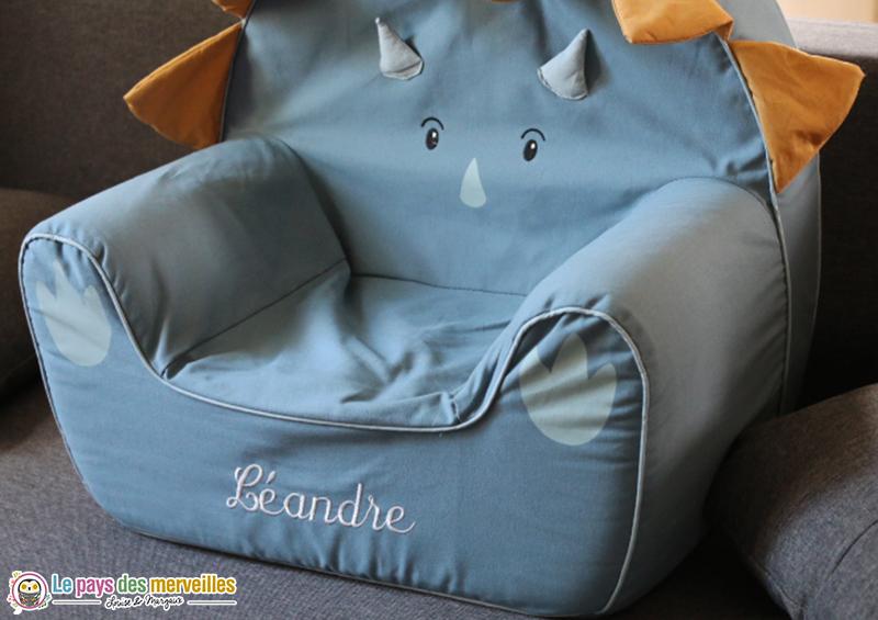 fauteuil personnalisé prénom enfant