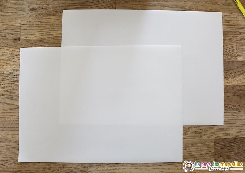 Feuille de papier blanche au format A4