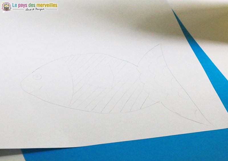 dessin poisson au crayon