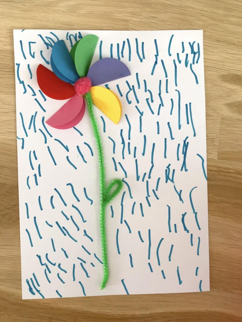 Fleur en collage