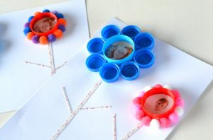 Fleurs bouchons en plastique